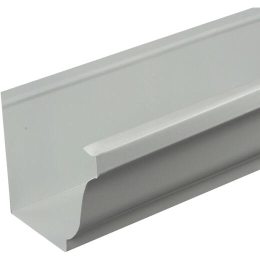 Spectra Metals 5 In. x 10 Ft. K-Style White Standard Aluminum Gutter