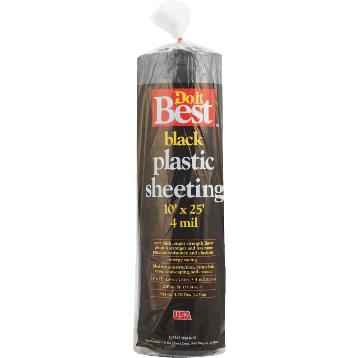 Do it Best 10 Ft. X 25 Ft. Black 4 Mil. Poly Film Sheeting Image 2
