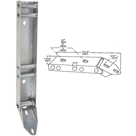 National Garage Door Low Head Clearance Quick Turn Bracket