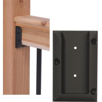 Deckorators Black Plastic Rail Bracket (2-Pack)