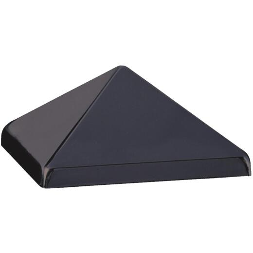 Deckorators 4 In. x 4 In. Metal Black Post Cap