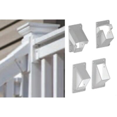 RDI Finyl Line White Vinyl Stair Rail Bracket (2-Pack)