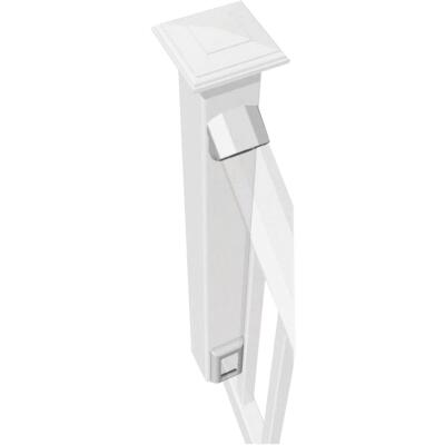 RDI Original White Vinyl Stair Rail Bracket (2-Pack)