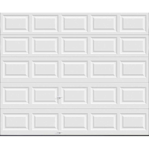 Holmes Gold Series 10 Ft. W x 8 Ft. H White Insulated Steel Garage Door w/EZ-Set Torsion Spring