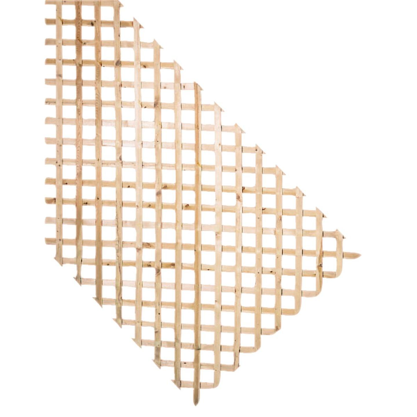 Prowood 4 Ft. W x 8 Ft. L x 1/2 In. Thick Natural Treated Wood Lattice Panel Image 1