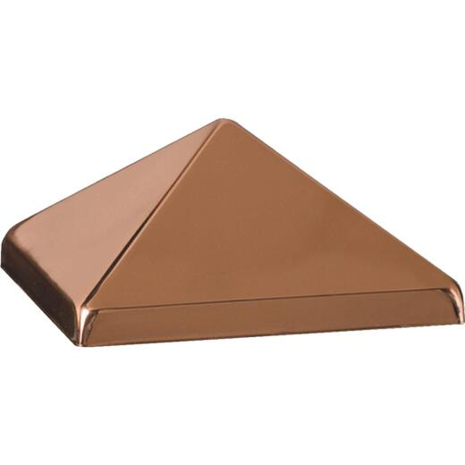 Deckorators 4 In. x 4 In. Metal Copper Post Cap