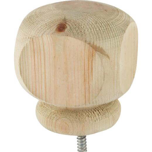 ProWood 3-1/2 In. x 3-1/2 In. Treated Wood Screw-On Contemporary Post Cap