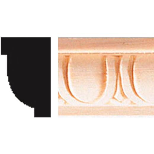 House of Fara 5/8 In. x 1 In. x 8 Ft. Hardwood Decorative Egg & Dart Detail Molding