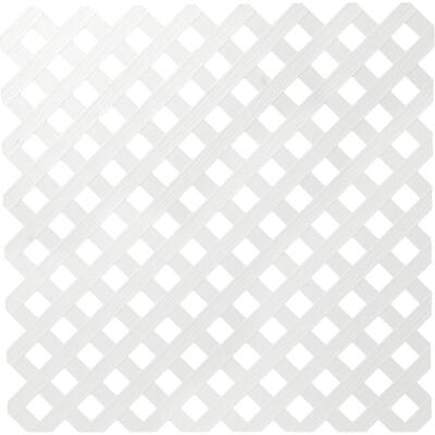 Dimensions 4 Ft. W x 8 Ft. L x 3/16 In. Thick White Vinyl Privacy Lattice Panel