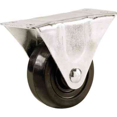 Shepherd 1-1/2 In. General-Duty Rubber Rigid Plate Caster