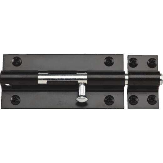 National 8 In. Black Extra Heavy-Duty Door Barrel Bolt