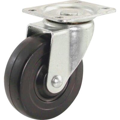 Shepherd 4 In. General-Duty Soft Rubber Swivel Plate Caster
