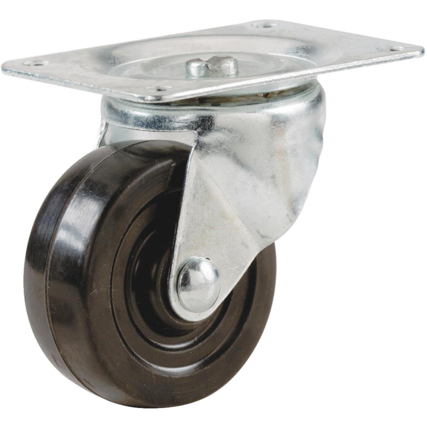 Shepherd 5 In. General-Duty Soft Rubber Swivel Plate Caster Image 1