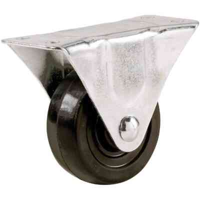 Shepherd 4 In. General-Duty Rubber Rigid Plate Caster