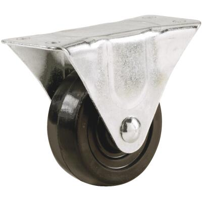 Shepherd 5 In. General-Duty Rubber Rigid Plate Caster