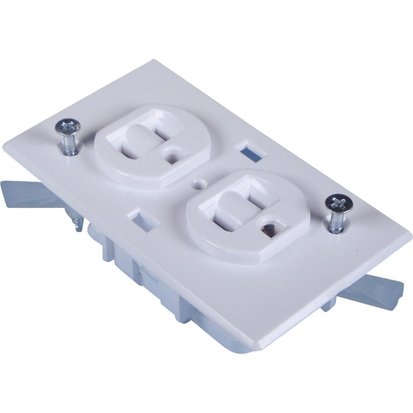 United States Hardware 15A White Conventional Mobile Home 5-15R Duplex Outlet Image 1