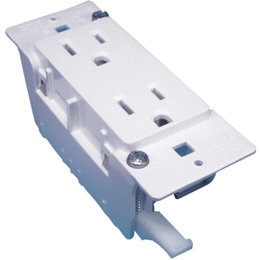 United States Hardware 15A White Mobile Home 5-15R Duplex Outlet
