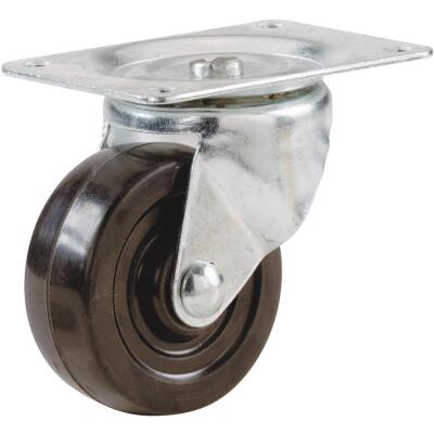 Shepherd 2 In. General-Duty Soft Rubber Swivel Plate Caster