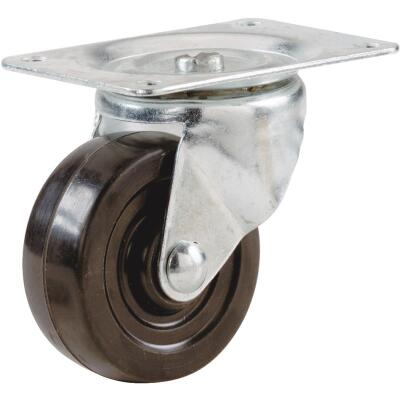 Shepherd 2-1/2 In. General-Duty Soft Rubber Swivel Plate Caster