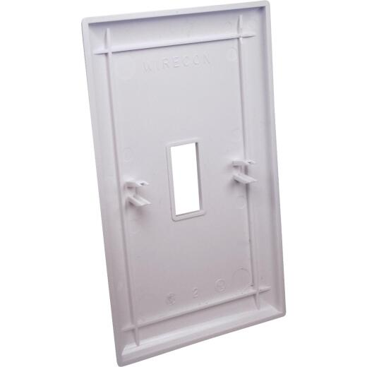 United States Hardware 1-Gang Plastic Toggle Switch Wall Plate, White