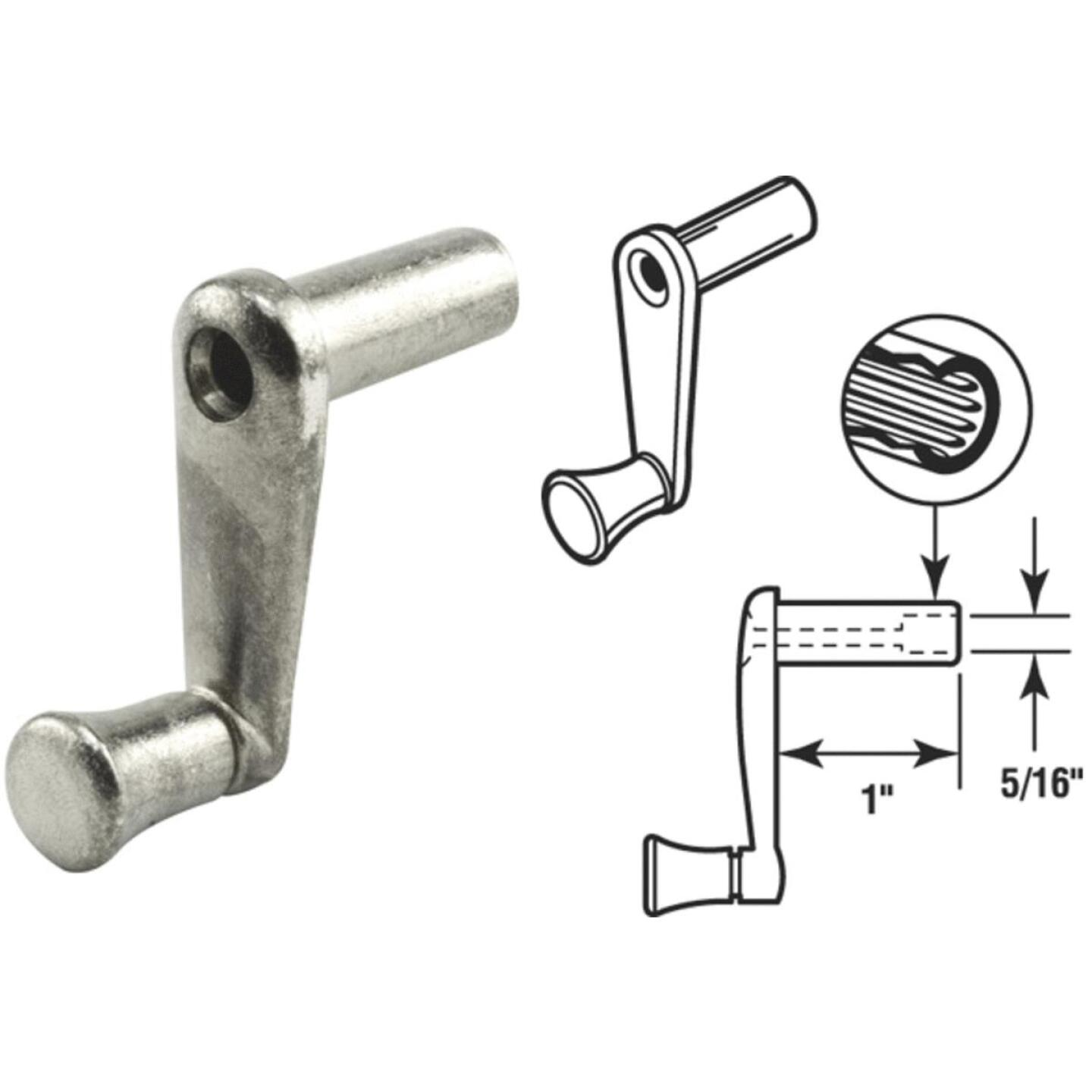 Slide-Co 1 In. Aluminum Casement Window Crank Handle Image 1