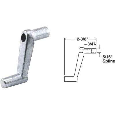 Slide-Co 3/4 In. Aluminum Casement Window Crank Handle