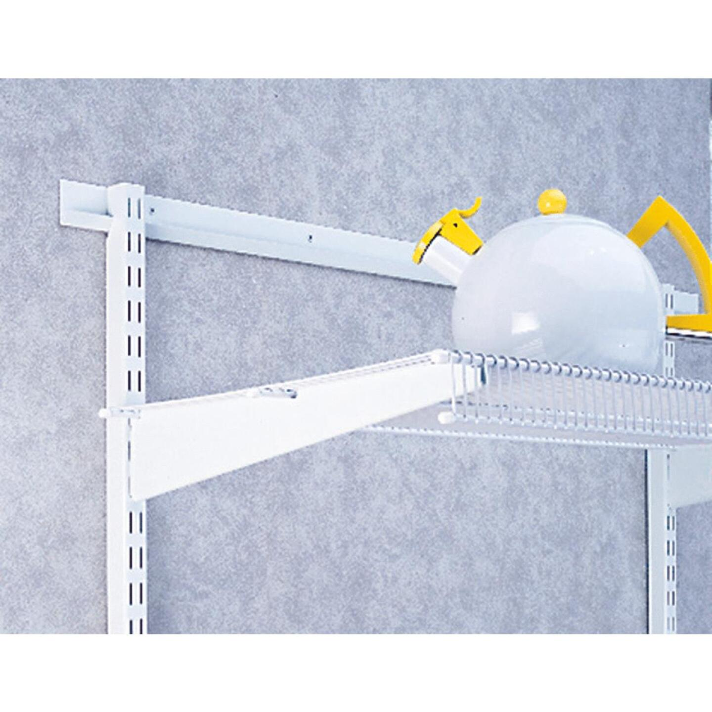 FreedomRail 12 In. White Twin Shelf Bracket Image 2
