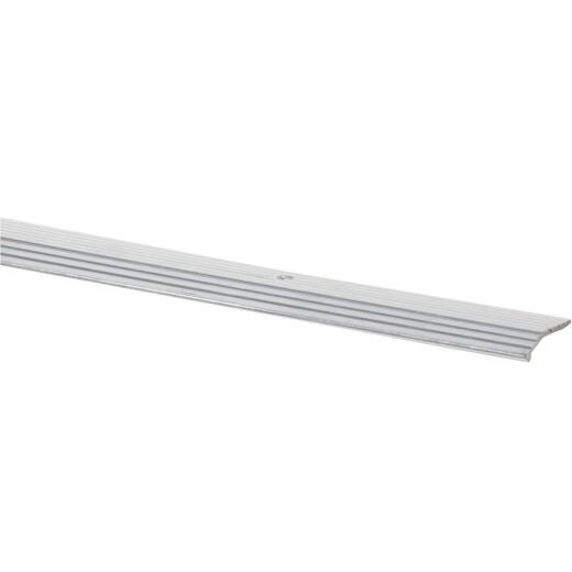Do it Satin Silver Fluted 1 In. x 6 Ft. Aluminum Carpet Trim Bar