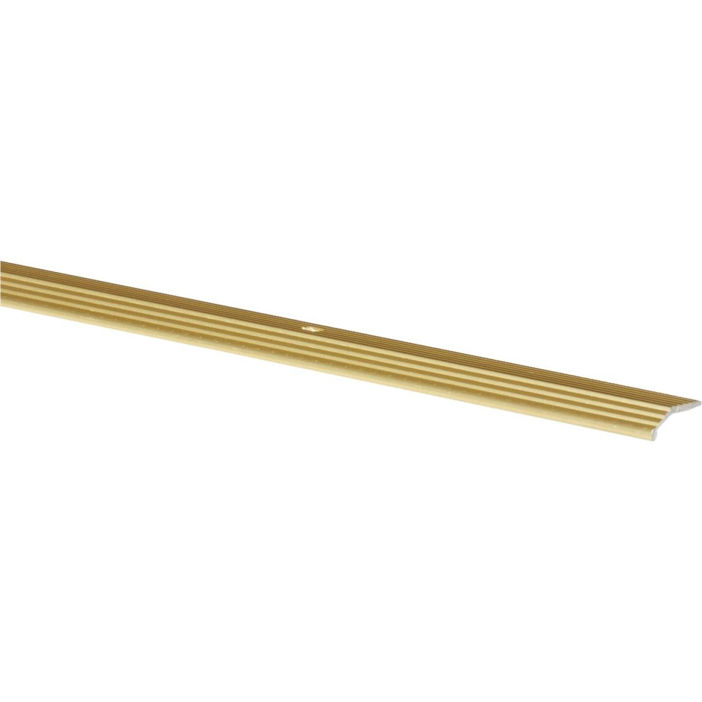 Do it Satin Gold Fluted 1 In. x 3 Ft. Aluminum Carpet Trim Bar Image 1