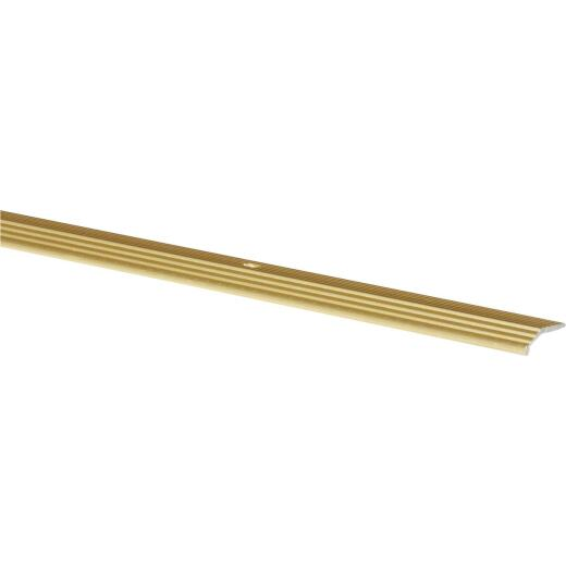 Do it Satin Gold Fluted 1 In. x 3 Ft. Aluminum Carpet Trim Bar
