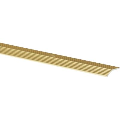 Do it Satin Gold Fluted 1-3/8 In. x 3 Ft. Aluminum Carpet Trim Bar, Wide