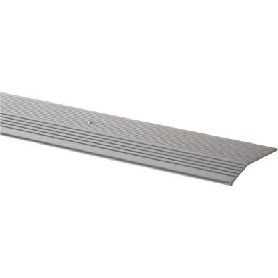 Do it Satin Silver Fluted 2 In. x 3 Ft. Aluminum Carpet Trim Bar, Extra Wide