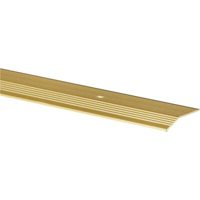 Do it Satin Gold Fluted 2 In. x 3 Ft. Aluminum Carpet Trim Bar, Extra Wide