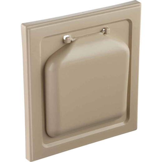 No-Pest 4 In. Tan Plastic Wide Mount Dryer Vent Hood