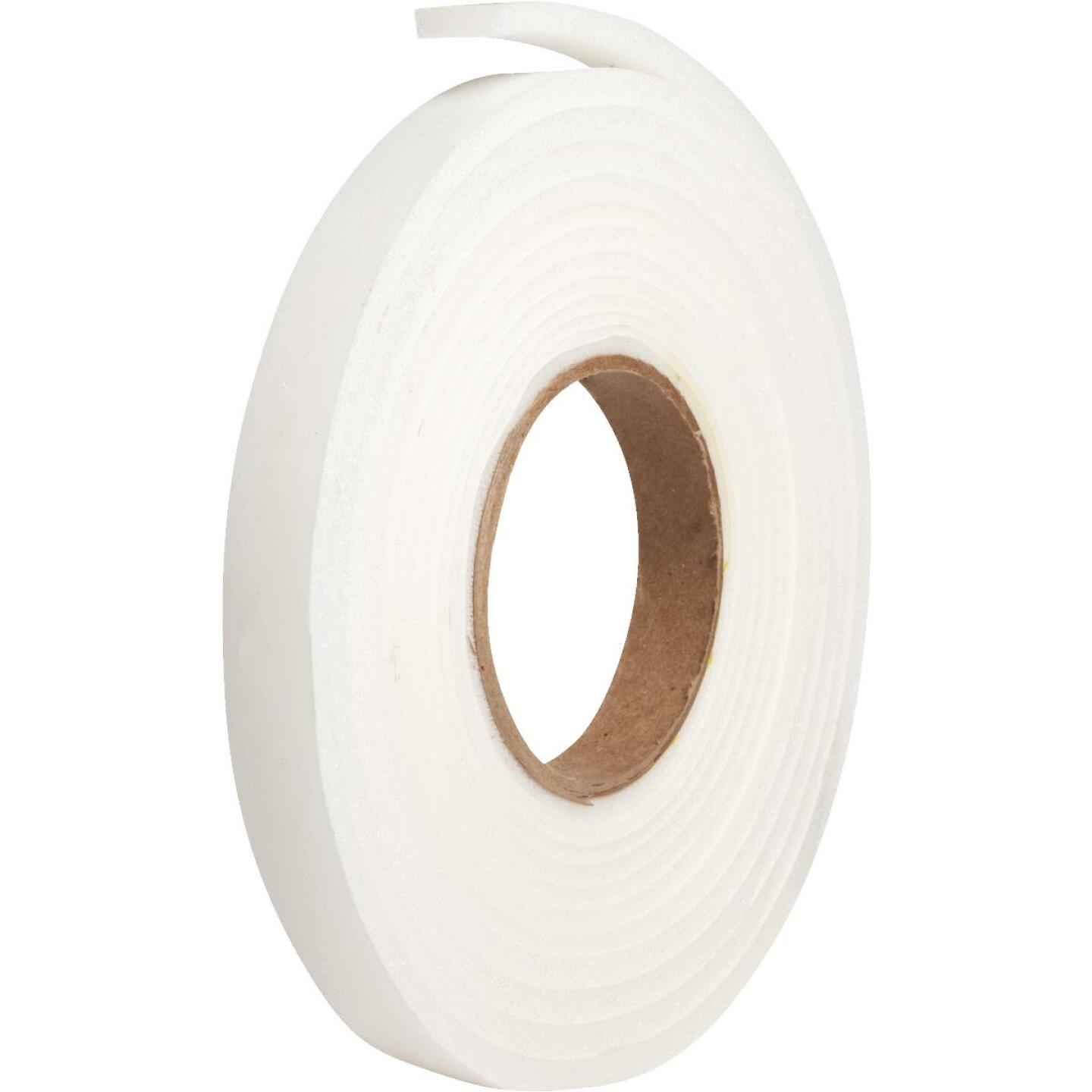 "Do it 3/4"" W x 1/4"" T x 17' L White Foam Weatherstrip Tape Image 3"