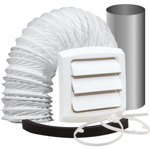 Dundas Jafine 3 In. to 4 In. Exhaust Bath Fan Vent Kit (5-Piece)