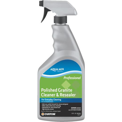 Aqua Mix 1 Qt. Polished Granite Cleaner & Resealer