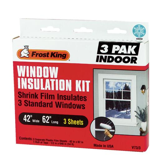 Frost King 42 In. x 62 In. Indoor Shrink Film Window Kit, (3-Pack)
