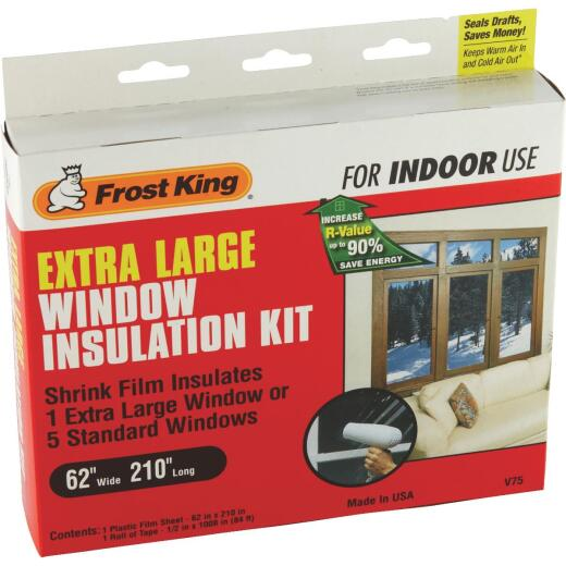 Frost King 62 In. x 210 In. Indoor Shrink Film Window Kit