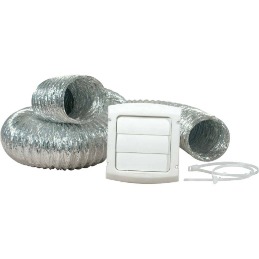 Dundas Jafine White Gas or Electric Dryer Vent Kit (4-Piece)