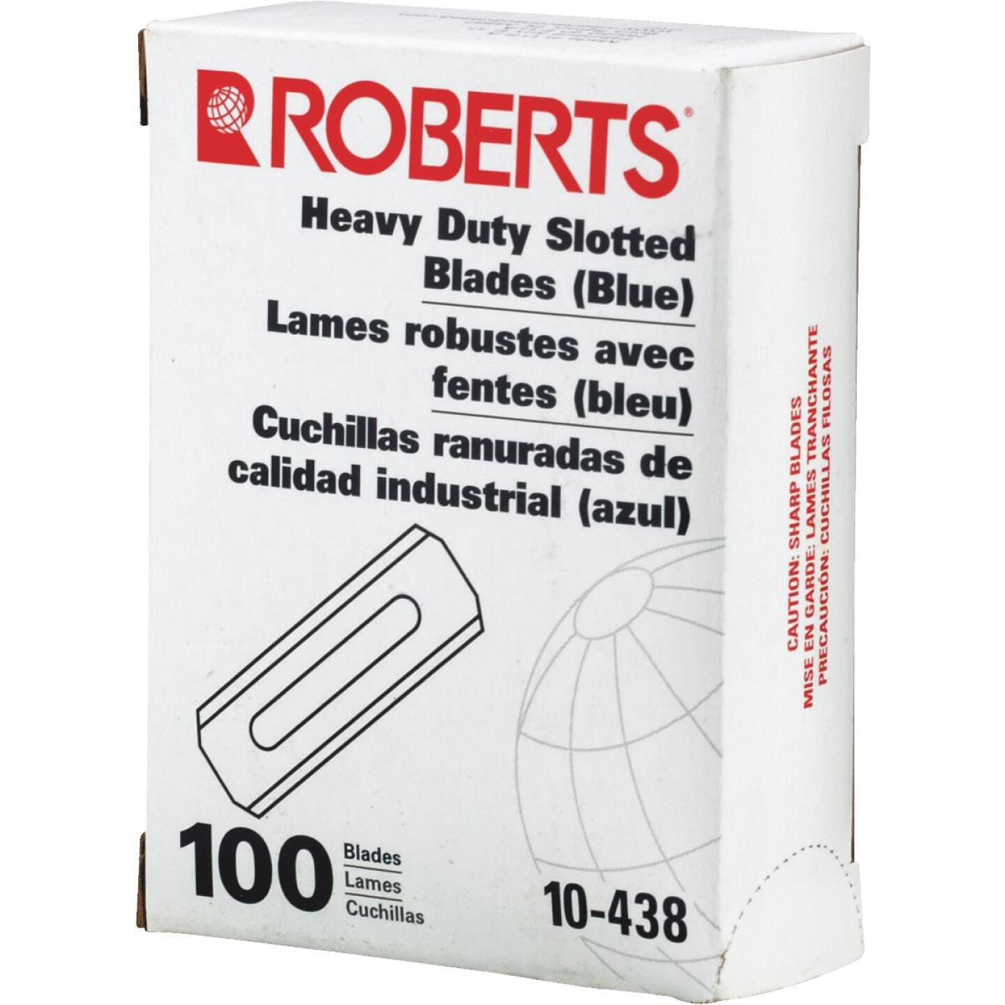 Roberts Heavy-Duty Double Edge Slotted 2-1/4 In. Utility Knife Blade (100-Pack) Image 2