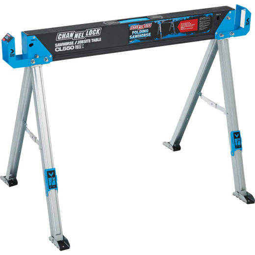 Channellock 46-1/2 In. L Steel Folding Sawhorse, 2200 Lb. Capacity