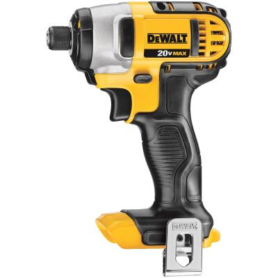 DeWalt 20 Volt MAX Lithium-Ion 1/4 In. Hex Cordless Impact Driver (Bare Tool)