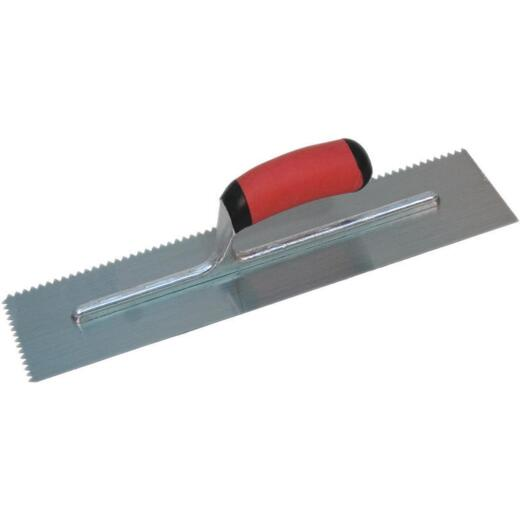 Marshalltown 3/16 In. V-Notched Trowel w/Soft Grip