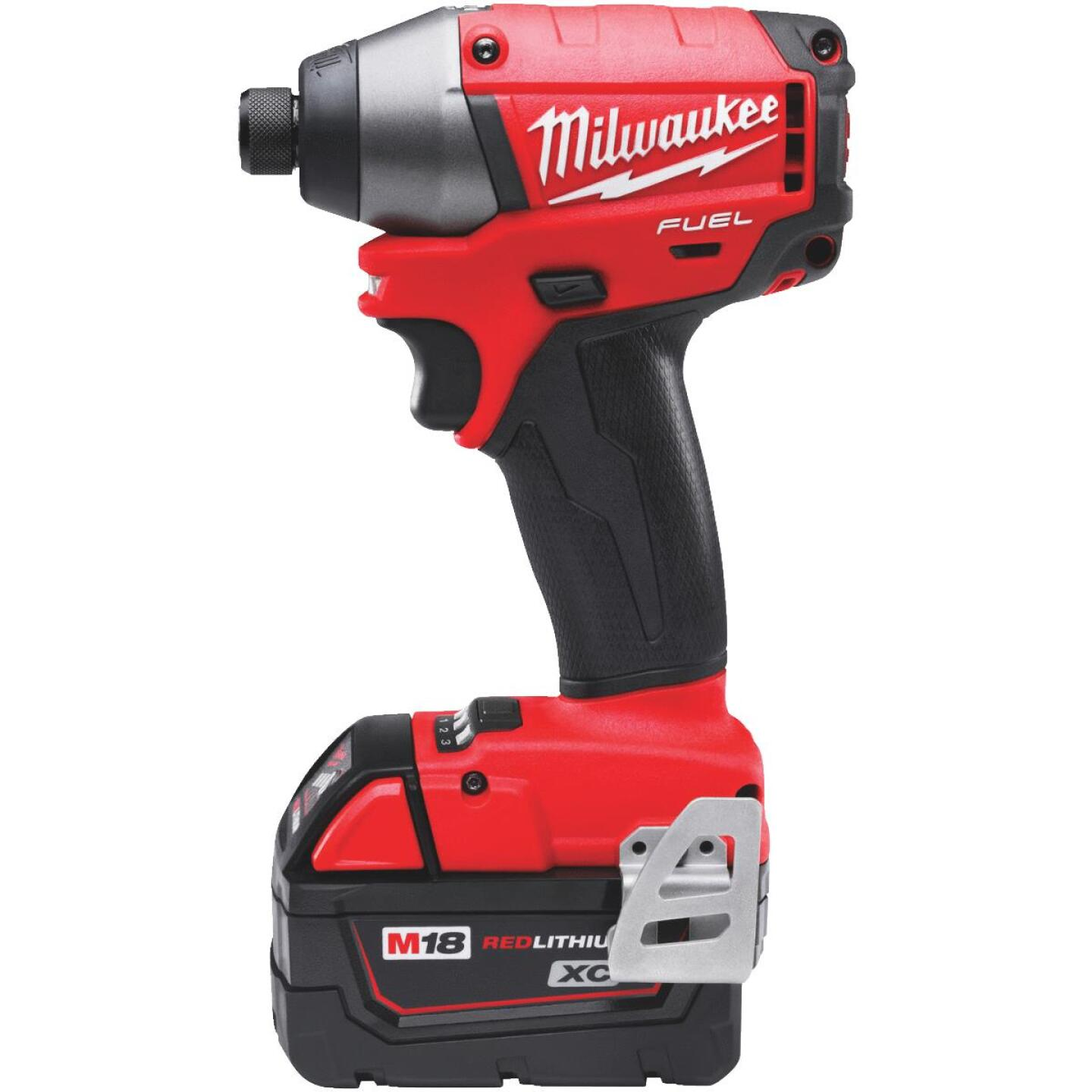 Milwaukee M18 FUEL 18 Volt XC Lithium-Ion Brushless 1/4 In. Hex Cordless Impact Driver Kit (with 2 Batteries) Image 1