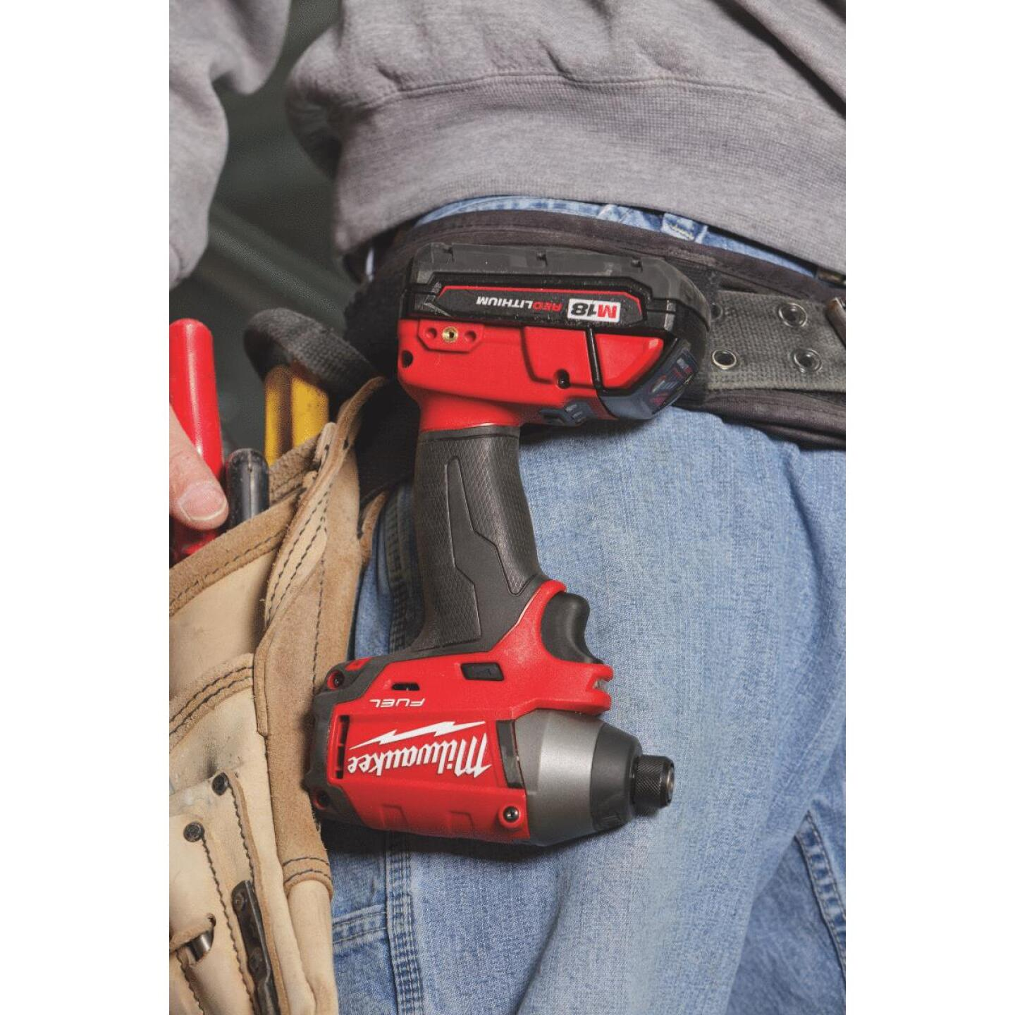 Milwaukee M18 FUEL 18 Volt XC Lithium-Ion Brushless 1/4 In. Hex Cordless Impact Driver Kit (with 2 Batteries) Image 4