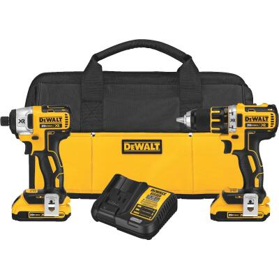 DeWalt 2-Tool 20V MAX XR Lithium-Ion Brushless Drill/Driver & Impact Driver Cordless Tool Combo Kit