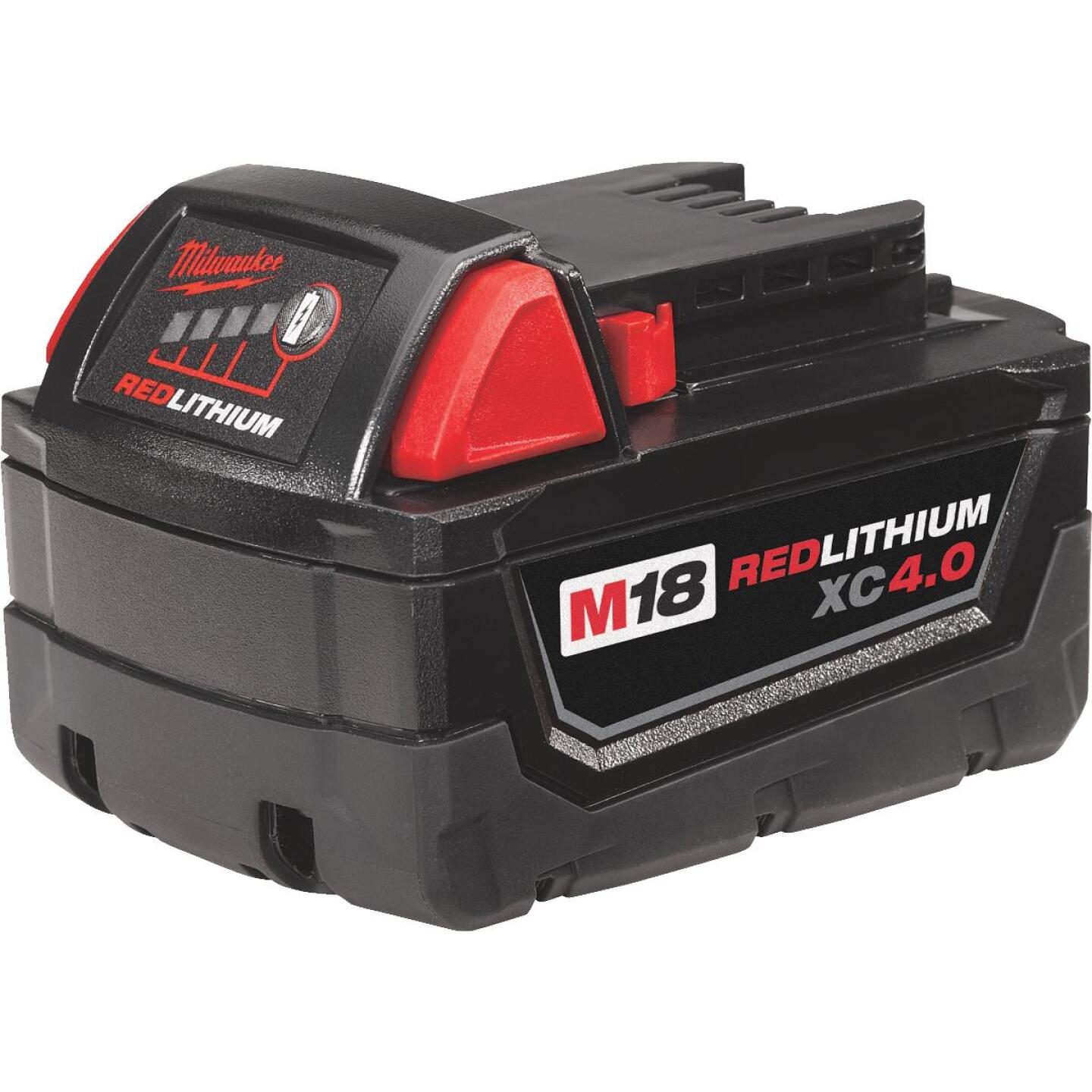 Milwaukee M18 REDLITHIUM XC 18 Volt Lithium-Ion 4.0 Ah Extended Capacity Tool Battery Image 2