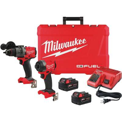Milwaukee 2-Tool M18 FUEL Lithium-Ion Brushless Hammer Drill & Impact Driver Cordless Tool Combo Kit