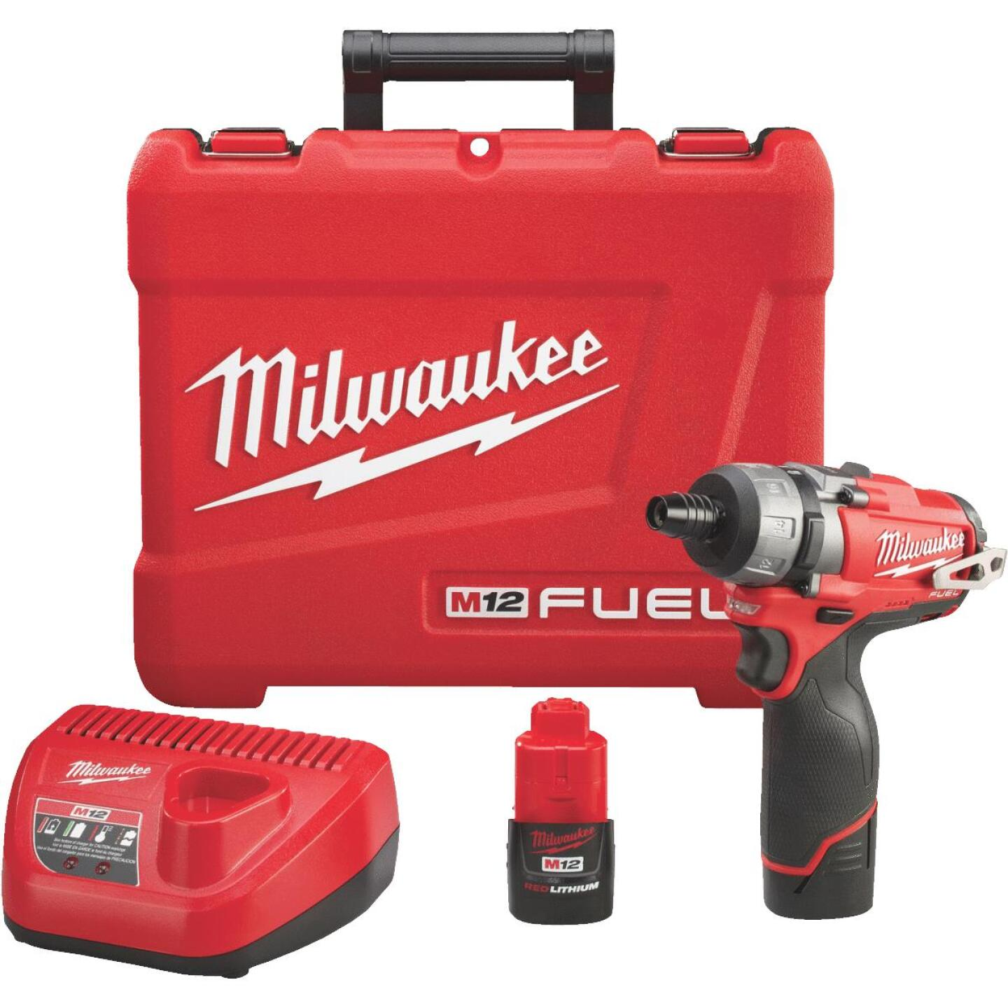 Milwaukee M12 FUEL 12-Volt Lithium-Ion Brushless 1/4 In. Cordless Screwdriver Kit Image 1